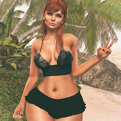 🍎 sunny haze(d) (Apple aka Ossia) Tags: maskara flouncy belleza genus conviction stealthic vibing epiphany epiphanyevent event second life secondlife sl blogger blogging blog photography photoshop ps portrait ginger freckles redhead beach fun cute bay