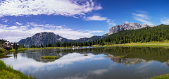 Lago del Pramollo/Stausee Panorama (Bulda9) Tags: lake lago italia alpen alpes summer rocks reflection mirror mountain mountains july forest tree kärnten austria