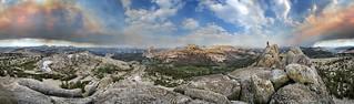 Panorama from Tressider Peak - Yosemite