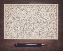 Ghost Tile (Junkyard Sam) Tags: art drawing fountainpen fountain pen