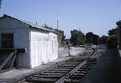 Israel Railways - Jerusalem train station in 1965 (color slide) (HISTORICAL RAILWAY IMAGES) Tags: train isr israel railways jerusalem station רכבת ישראל ירושלים תחנה