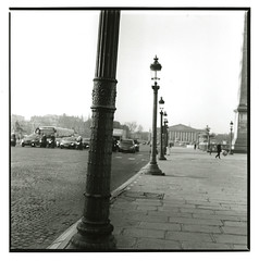 Place de la Concorde (Tamakorox) Tags: france placedelaconcorde art japan japanese asia lights shadow film filmphotography analoguecamera b&w canonf1 kodaktmax400 ilfordrcpaper fujib690 フランス パリ コンコルド広場 画家 日本 日本人 bronicas2 zenzabronica paris