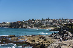 bronte (Greg Rohan) Tags: landscape waves houses bronte ocean sea water people rock beach australia sydney d750 nikon nikkor 2018 bay sky coast blue tree trees sand