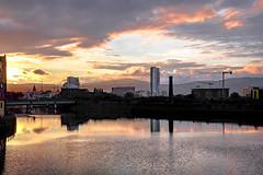 DSCF5618-2 (lucy.chenet) Tags: belfast sunset ireland northernireland uk street streetphotography fujifilm xt1 fujixt1 35mm river city
