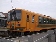 Departure (Kanagi Station) (しまむー) Tags: panasonic lumix gx1 g 20mm f17 asph natural train tsugaru free pass 津軽フリーパス