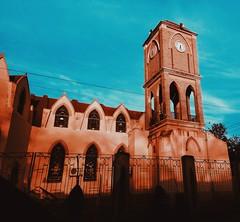 ○●Iglesia en Zaragoza Coahuila⛪. ●○ (ivethmendez86) Tags: iglesia architecture mexico cielo sky ring reloj ventanas windows