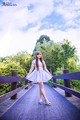 A Walk in the Park (Alkun(岸蓮)) Tags: vancouver vancity portrait photographer richmond park bridge forest 溫哥華 列治文 人像 公園 樹林 lolita 蘿莉塔 girl 女孩 tree 花園 天空 sky cloud 云