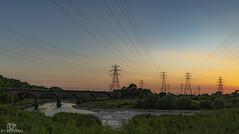 Sunset Pylons. (CamraMan.) Tags: waverley viaduct sunset carlisle disused pylons sonya7 ©davidliddle ©camraman railway