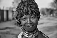 Hamar Woman in Turmi (Rod Waddington) Tags: africa african afrique afrika äthiopien ethiopia ethiopian ethnic etiopia ethnicity ethiopie etiopian omovalley outdoor omo omoriver turmi hamer hamar tribe traditional tribal woman streetphotography street town blackandwhite monochrome culture cultural