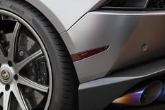Lambo exhaust (Chuck Diesel) Tags: lamborghini lambo hurcan silver carshow caffeineandoctane atlanta exhaust burnout wheel tire pirelli