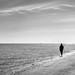 On the beach - Malahide, Dublin - Black and white street photography