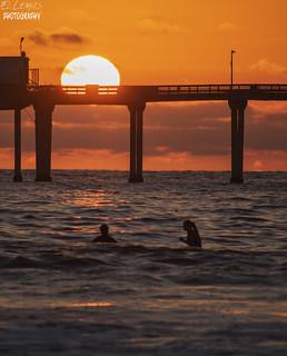 Special Sunset, Ocean Beach, San Diego, California.