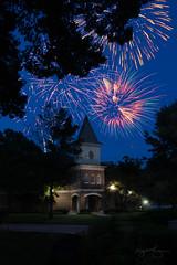 Fireworks at ASU campus (benjaminking1) Tags: nightsky summer celebration fourthofjuly independenceday firework collegecampus asu nighttime mountainhome arkansas unitedstates us