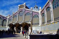 mercado central Valencia....... (atsjebosma) Tags: artnouveau mercadocentral valencia spain spanje details spring 2018 atsjebosma windows entrance