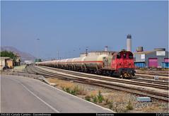 Breva (Trenes2000) Tags: tren 310 renfe adif escombreras mercancias mercante trenes butanero cisternas butano getafe maniobras murcia diesel trenes2000 tractor spain