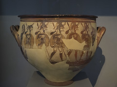 "Mycenaean Greece - II: The Mycenaean Warrior Vase (Egisto Sani) Tags: warriors ""mycenaean antiquities"" warriors"" ""guerrieri micenei"" warrior krater"" krater crater cratere pottery"" ""ceramica micenea"" ""greek art"" ""arte greca"" ceramic"" vases"" ceramica ""vasi greci"" atene athens ""national arehaeological museum"" ""museo areheologico nazionale"" 1426"