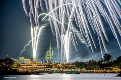 2018-03 Magic Kingdom 03 (zwzzjim) Tags: nightscape firework magic kingdom disney building complex castle river water architecture adventure sky road blur orlando florida