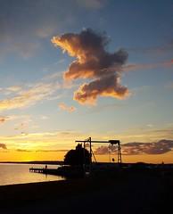 Sunset. (ingeborgmodalen) Tags: storsjön teddybear naturesart sommar solnedgång