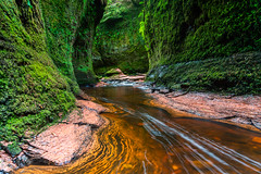 Devil's pulpit (ola_er) Tags: rock stream water flow green scotland