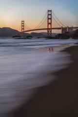 Golden Gate Bridge from Baker Beach (Greg Mombert) Tags: golden gate bridge california ocean coast water sunset beach baker waves bridges agricultural bay san francisco long exposure landscape