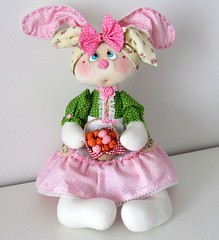 Basket Gifts : Stuffed rabbit doll 18 inch Easter bunny by NICEDOLLSANDRABBITS (giftsmaps.com) Tags: gifts