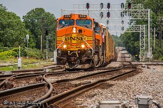 BNSF 5316 | GE C44-9W | BNSF Thayer South Subdivision