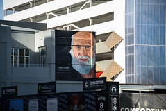 Looking Out on the World (Jocey K) Tags: newzealand nikond750 christchurch cbd city architecture buildings mural streetart artwork shadows people rebuild