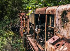 Abandoned Trains (JamieDee_3) Tags: wood train old abandoned neglected rust tree metal nature forest uk mine engine nikon