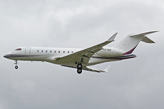 Qatar Executive Bombardier Global 5000 A7-CED (Paul's Aircraft and Transport Images) Tags: bombardier 5000 global qatar executive london lhr heathrow myrtle avenue