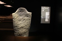 Val d'Aosta - Aosta - Area megalitica di S.Martin de Corleans: stele raffigurante una figura femminile ; lo si deduce dai particolari del vestito (mariagraziaschiapparelli) Tags: aosta valdaosta areamegaliticadistmartindecorleans corleans stmartindecorleans museo