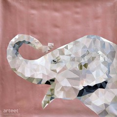 Elephant Elephant Elephant, Art Painting / Oil Painting For Sale - Arteet™ (arteetgallery) Tags: arteet oil paintings canvas art artwork fine arts elephant abstract design geometric triangle element isolated illustration elephants concept symbol modern graphic nature animal creative wildlife label animals grey pink paint