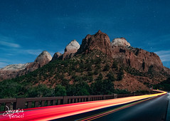 Passing In The Night (Jeremiah Pierucci) Tags: zion nationalpark utah landscape nightphotography night mountains stars longexposure