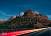 Passing In The Night (Jeremiah Pierucci) Tags: zion nationalpark utah landscape nightphotography night mountains stars longexposure
