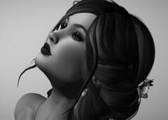 Black and White (Ekatarina Petrov) Tags: blackandwhite glamour secondlife lipstick pinup portrait
