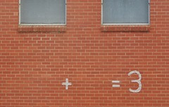 Fill in the Gaps (mikecogh) Tags: portadelaide equation arithmetic gaps plus equals symbols redbrick wall