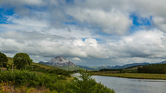 Majestic mount Errigal Co.Donegal (jac.photography49) Tags: clouds canon donegal exposure fullframe f4 grass ngc ireland images view wideangle sky 5dmkiii lough mountain rocks river tree water