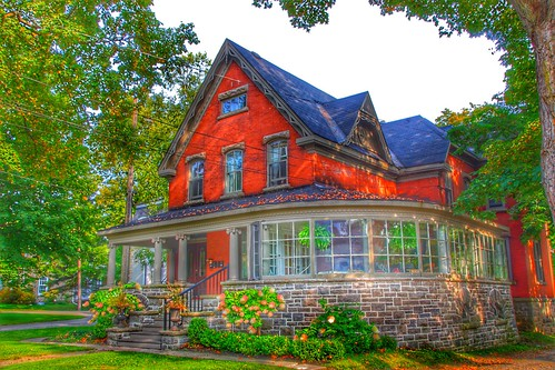 Brockville Ontario - Canada -  207 King Street East - Home of Col. James Walsh - Indian Cliff - Architecture Victorian