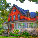 Brockville Ontario - Canada -  207 King Street East - Home of Col. James Walsh - Indian Cliff - Architecture Victorian thumbnail