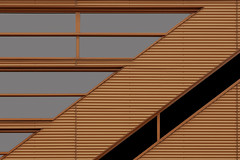 Orange in Lines (JanNiezen) Tags: abstract lines color building black grey windows