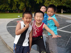 Four Chinese Boys (Wolfgang Bazer) Tags: university science technology china ustc 中国科学技术大学 zhōngguó kēxué jìshù dàxué hefei anhui 合肥市 chinese boys chinesische buben 4