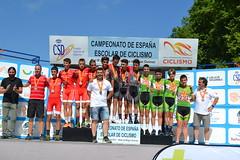 Podium de las selecciones en el Campeonato de España Infantil.