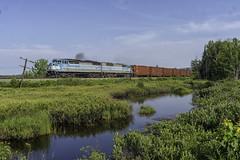 Job 1 at Long Pond (Thomas Coulombe) Tags: centralmainequebec cmq job1 emdsd402f gmdsd402f sd402f freighttrain train longpond maine parlinstream mooseheadsub