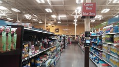 Pet Aisles, and Delta Division Courtesy Phone/Price Check Sign (Retail Retell) Tags: lakeland tn kroger former schnucks architecture exterior design picture window us hwy 64 2011 relocation 2012 bountiful décor remodel expansion 2013 shelby county retail