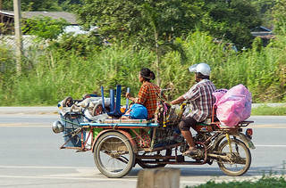Family on the way to the market