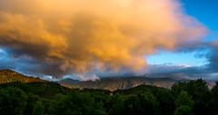 Skyer-1807182229-004-Pano-FLICKR (Knut Erik Håheim) Tags: sunset clouds sky himmel skyer fjell
