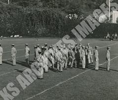 325- 5455 (Kamehameha Schools Archives) Tags: kamehameha archives ksg ksb ks oahu kapalama luryier pop diamond 1954 1955 drill team halftime performance punahou junior varsity jv football sports