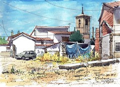 Pozuelo del Rey (P.Barahona) Tags: urbano rural solar iglesia torre casas