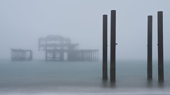 sea fret (Rob McC) Tags: sea beach coastline brighton fog fret mist oldbrightonpier structure le longexposure tones