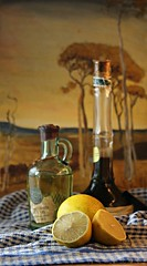 Olive oil, vinegar, lemons... (Anni - with camera - away for a little bit) Tags: olive oil vinegar lemons canoneos700d