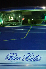 Time Travellers No1 32 (▓▓▒▒░░) Tags: vannuys boulevard cruise hotrod custom lowrider vintage classic retro lights city streets chevy nova impala corkys diner shermanoaks la losangeles valley sfv bttf backtothefuture 2015 cubs future bike ride bicycle midnight ridazz night california car auto automobile color black white pentax mx1